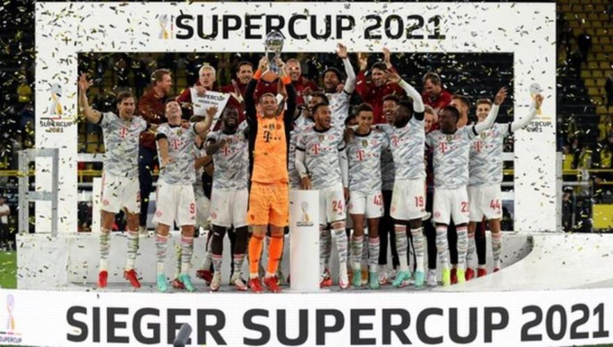 拜仁慕尼黑击败多特蒙德保住德国超级杯冠军头街