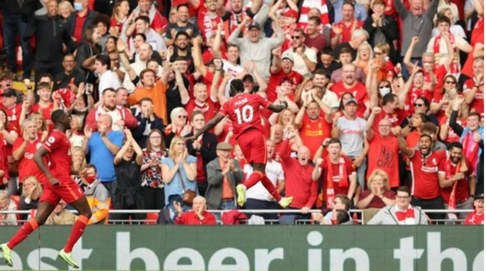 马内在利物浦的胜利比赛中打进了他俱乐部的100个进球