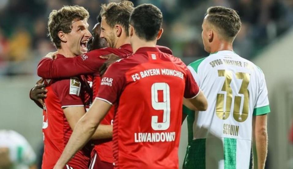 拜仁慕尼黑继续在在榜首中领先