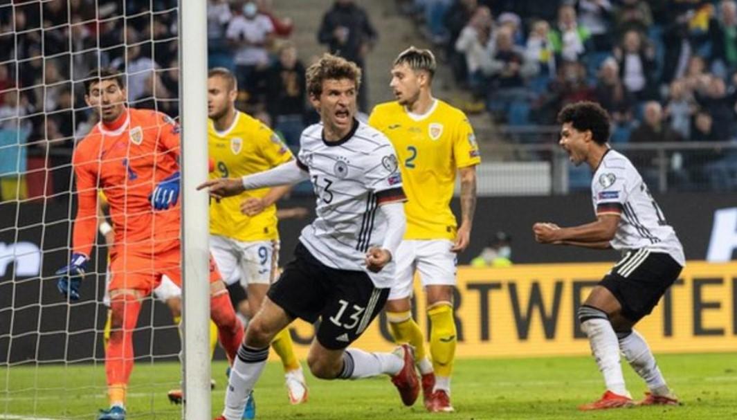 德国队离获得参加世界杯的资格就只差一步之遥
