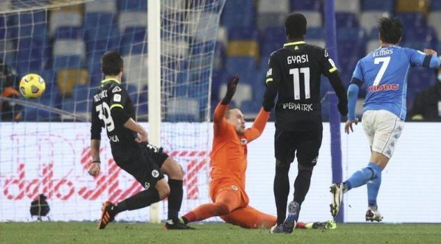 Napoli 以4-2战绩击败Spezia进入意大利杯半决赛