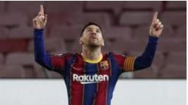 梅西取得第650个巴塞罗那的进球