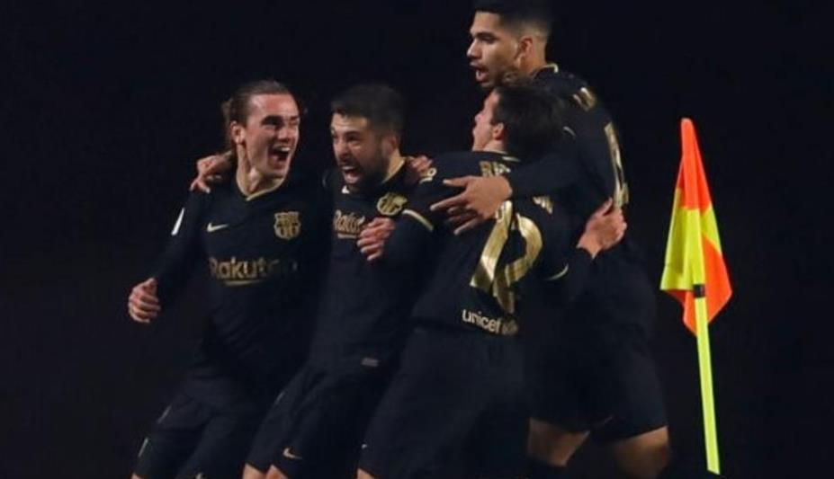 巴塞罗那侥幸进入到西班牙国王杯半决赛