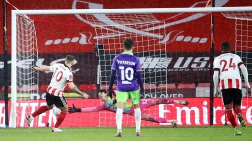 进准的一次点球是谢菲尔德联进入足球杯四分之一决赛