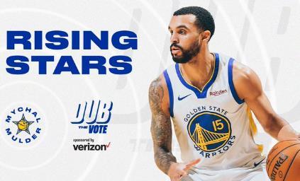 勇士队的詹姆斯•怀斯曼和米卡尔•穆德入选NBA的2021年新星队