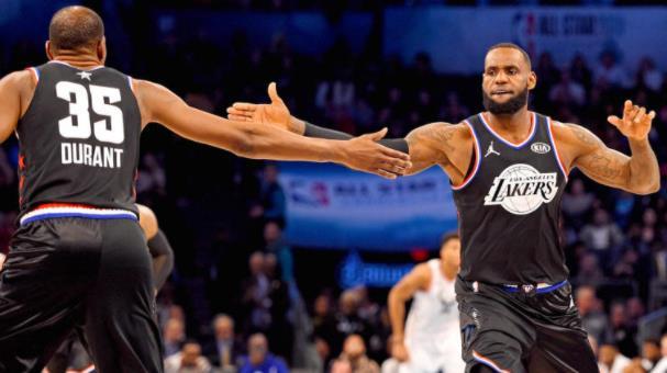 2021年NBA全明星赛模拟选秀:预测勒布朗•詹姆斯,凯文•杜兰特如何填补球队