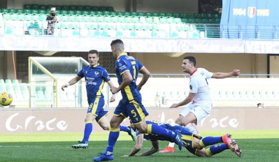 AC米兰击败了维罗纳,缩小了与国际米兰的分数差距
