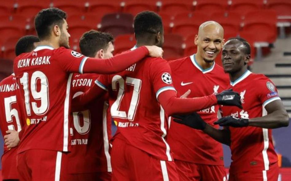 利物浦进入了欧洲冠军联赛八强
