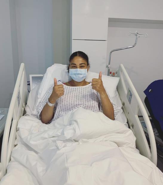 埃弗顿的加比•乔治在女子足球比赛中因伤缺阵了长达12个月的激烈战斗
