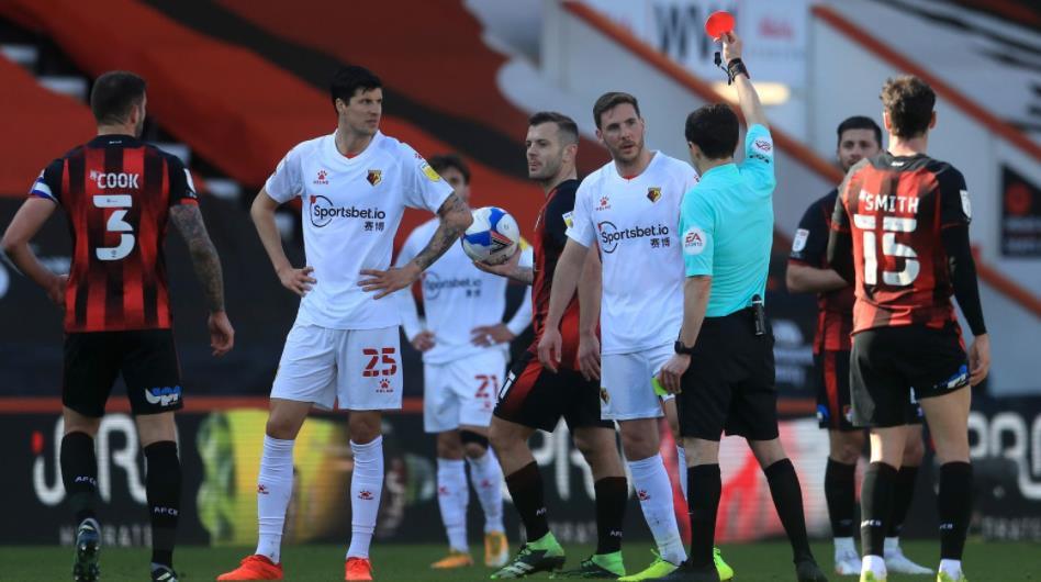 伯恩茅斯和沃特福德因二月份比赛中的受伤时间对抗而被罚款1万英镑