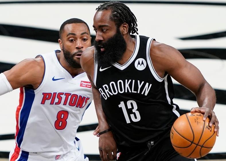 布鲁克林篮网队以100-95击败了底特律活塞队