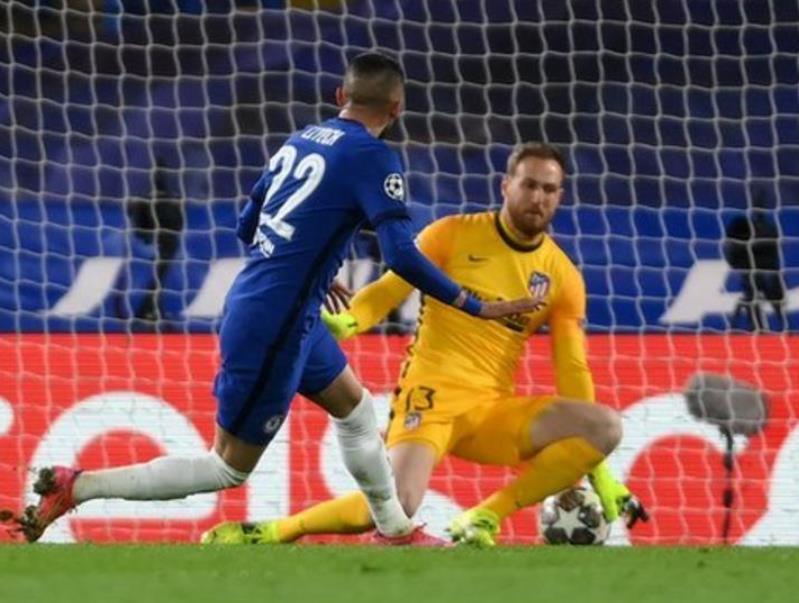 切尔西击败了马德里竞技队 7年以来首次闯入八强决赛