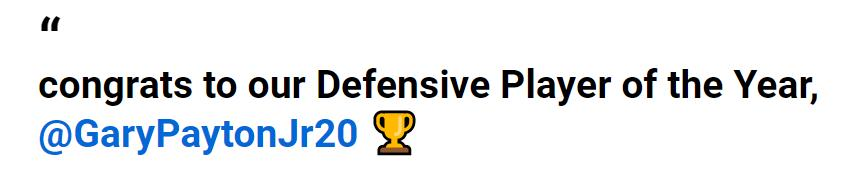 盖瑞·裴顿二世赢得G联赛防守球员奖