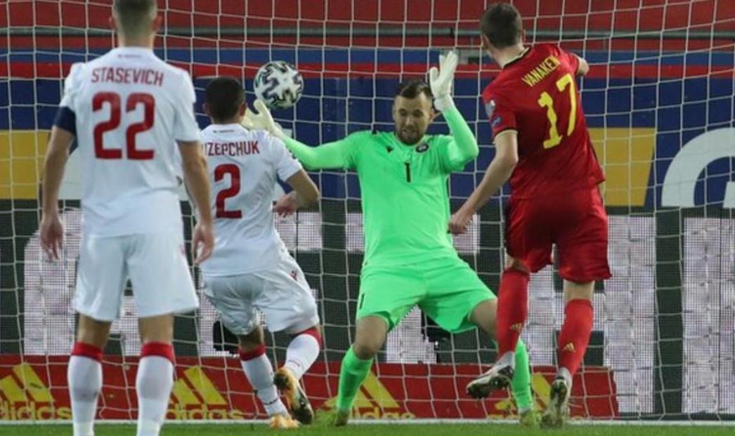 比利时以8-0的战绩击败了白俄罗斯