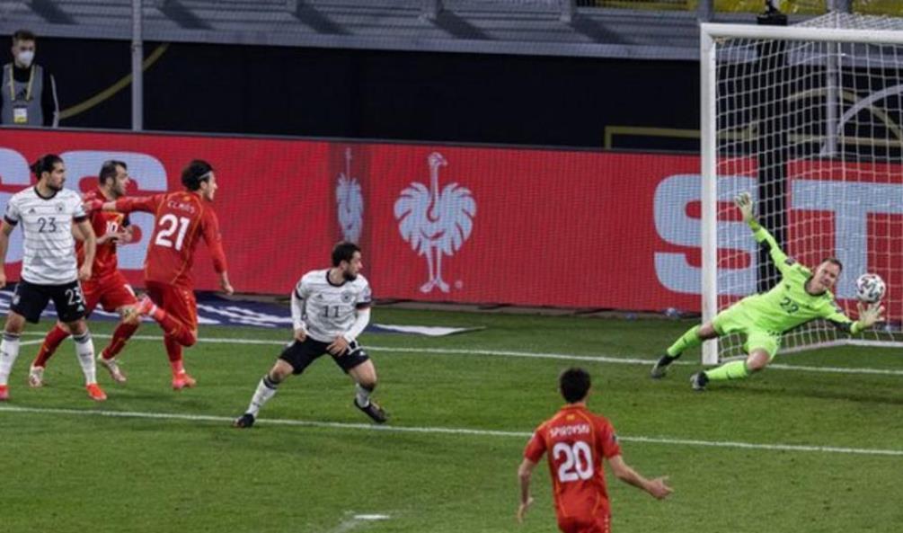 北马其顿的比赛表现震惊了德国