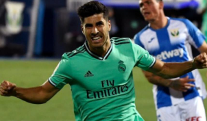 皇家马德里的前锋阿森西奥很高兴在击败埃瓦尔的比赛中得分