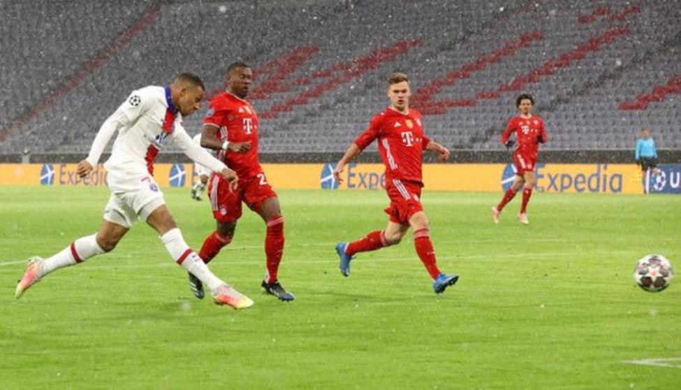 基利安·姆巴佩在拜仁击败了巴黎圣日的比赛中射进了两个球