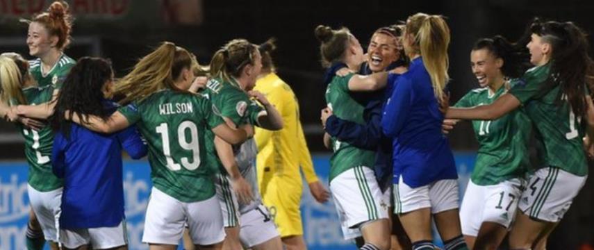 """""""英国有史以来最好的体育成就""""-北爱尔兰经理肯尼·谢尔斯赞扬了他们的女子队"""