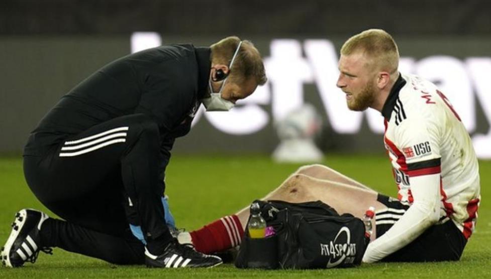 谢菲尔德联前锋因脚骨折将缺席本赛季的剩余时间