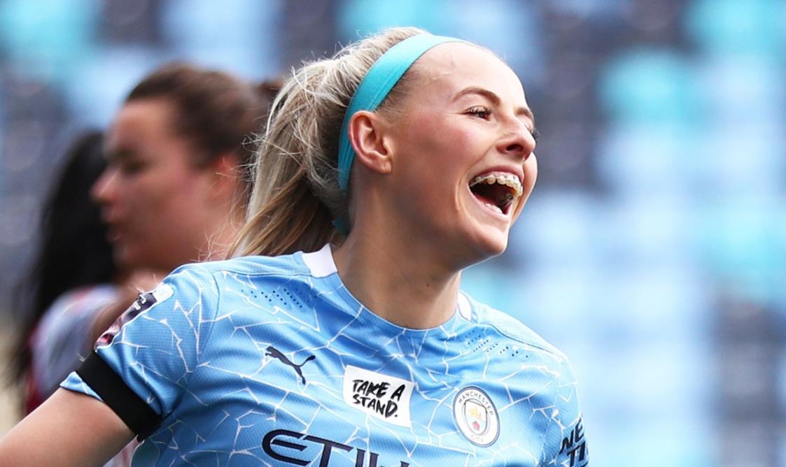 女子足总杯:曼城重击阿斯顿维拉8-0,克洛伊~凯利以帽子戏法得分