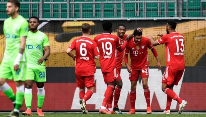 拜仁慕尼黑将在德甲榜首上的零分优势扩大到了7分