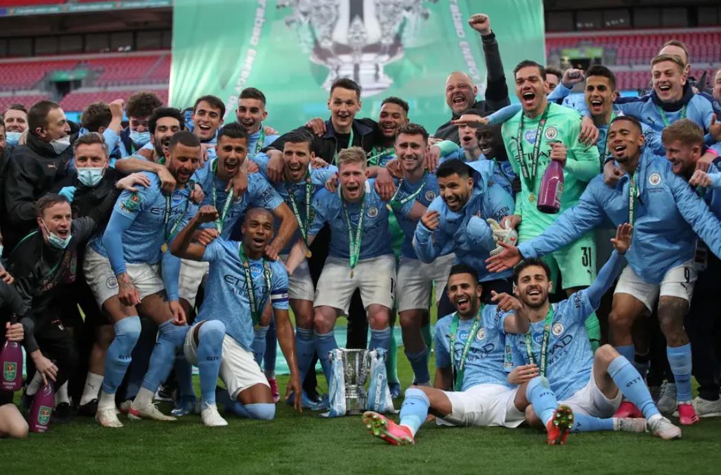 曼城在英格兰联赛杯决赛中夺冠