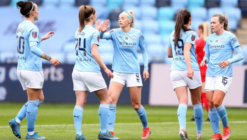 曼城女子队上升至排行榜上的榜首