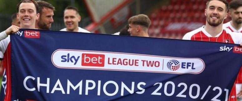 英格兰足球乙级联中降级与晋级的俱乐部们