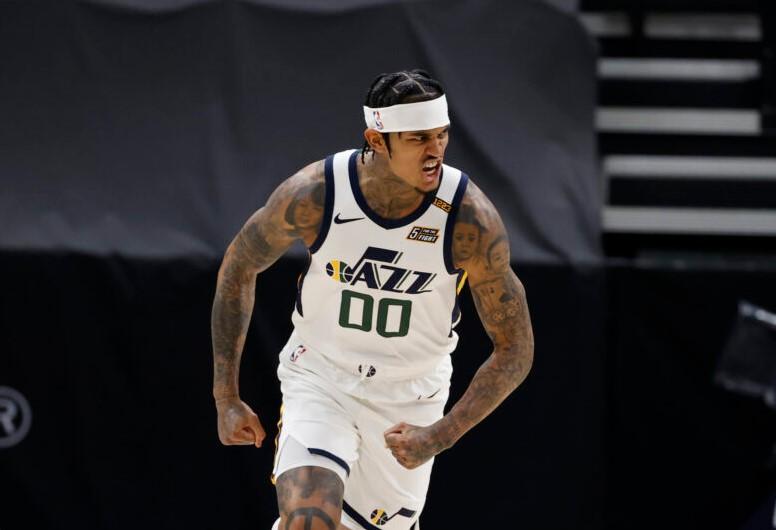 犹他爵士队后卫乔丹·克拉克森赢得2020-21 NBA第六人奖