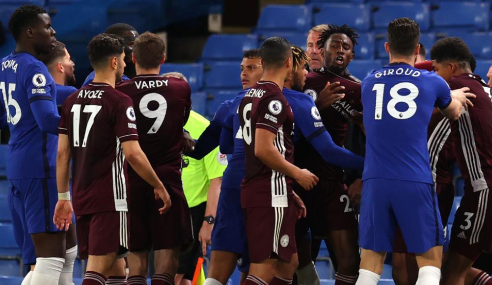 切尔西和莱斯特城因未能在英超联赛的大规模斗殴中控制球员而被罚款