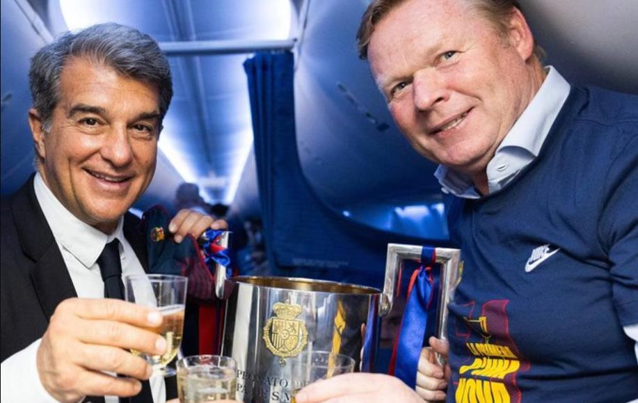 俱乐部主席胡安~拉波尔塔表示,罗纳德~科曼下赛季将继续担任巴萨主帅