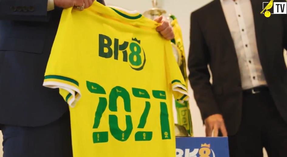 """诺维奇城的新球衣赞助商 BK8 为""""性挑逗"""""""