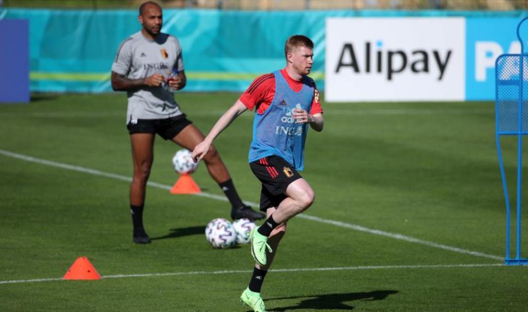 德布劳内重返比利时训练