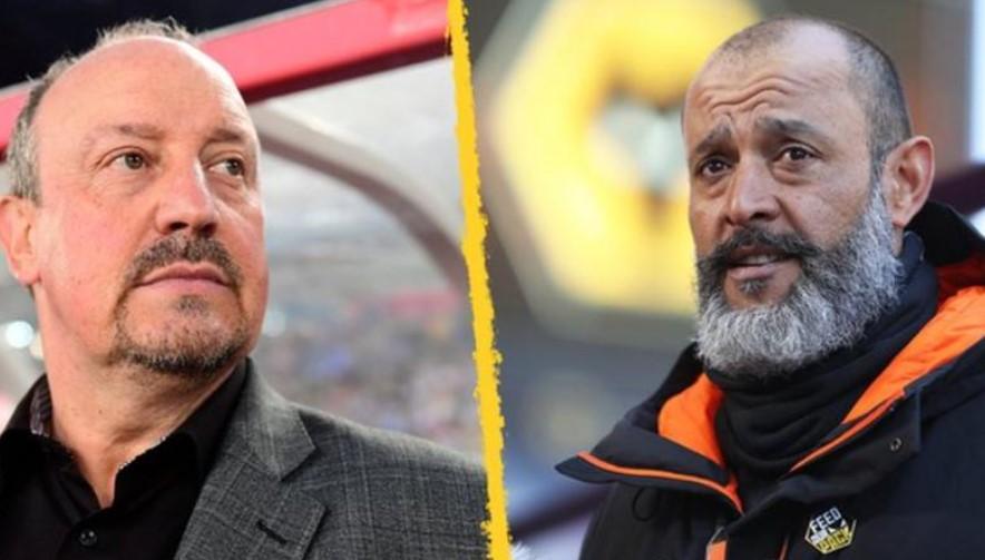 拉斐尔·贝尼特斯和努诺·埃斯皮里图·桑托竞选埃弗顿经理工作职位