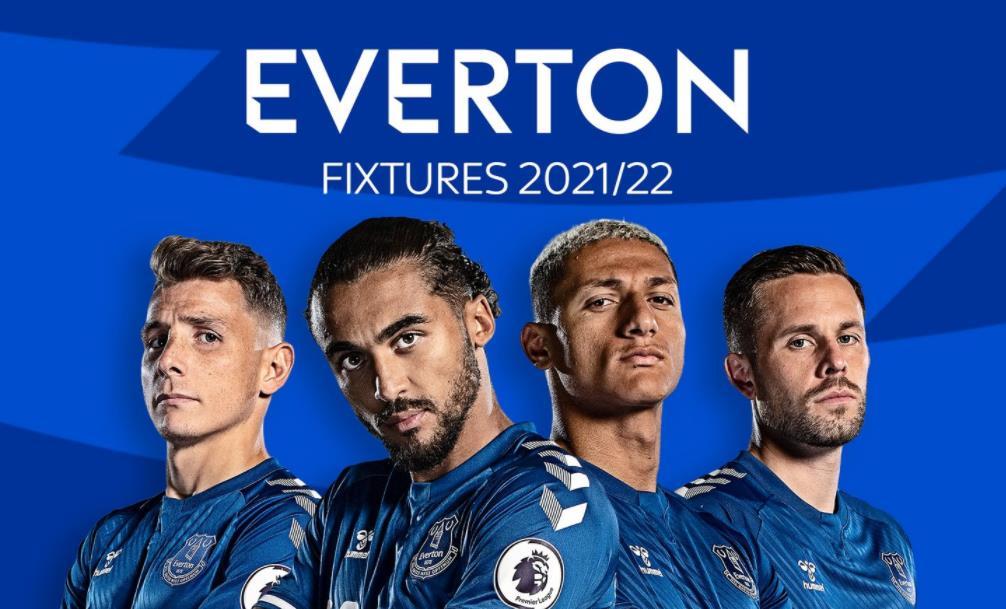 埃弗顿:英超联赛 2021/22 赛程表