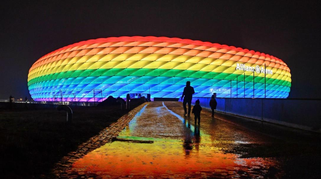主办方拒绝慕尼黑体育场将彩红灯照明用于 2020 年欧洲 F 组的比赛
