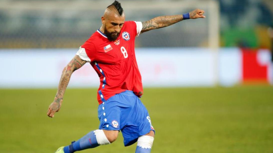 比达尔的进球使智利与乌拉圭平局