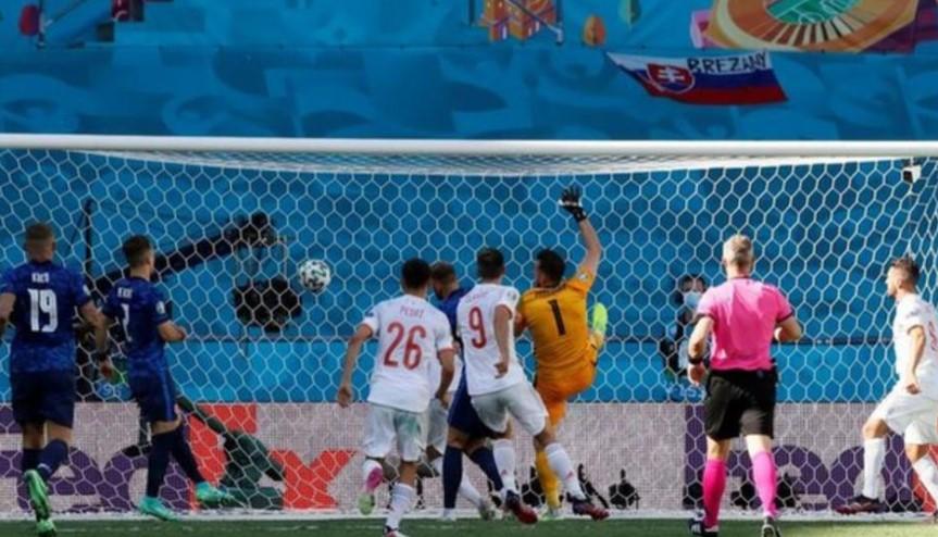 西班牙击败了斯洛伐克队以进入16强
