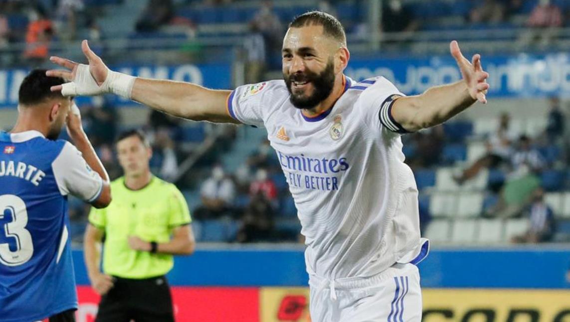 本泽马帮助皇家马德里击败了阿拉维斯竞技